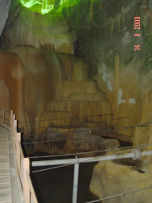 Cascading Gour Pool in Kelam Cave